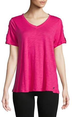 Calvin Klein Short Sleeve Slub Jersey Tee