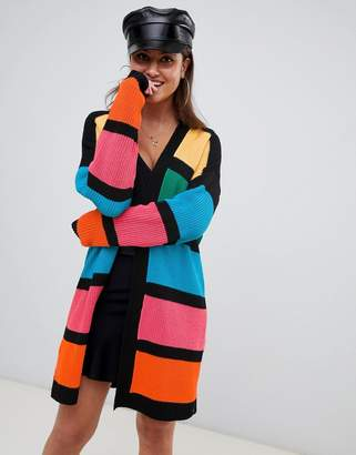 PrettyLittleThing color block cardigan in multi