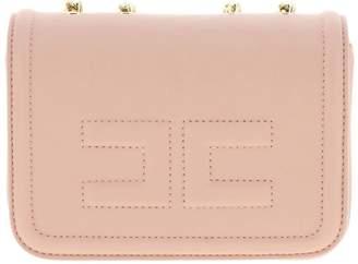 Elisabetta Franchi Celyn B. Mini Bag Mini Shoulder Bag In Synthetic Leather With Logo