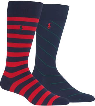Polo Ralph Lauren Men 2-Pk. Striped Socks