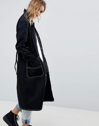Cheap Monday Summer Trench with Contrast Stitching