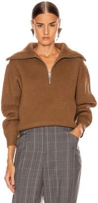 Acne Studios Kelanie Pullover Sweater in Toffee Brown   FWRD