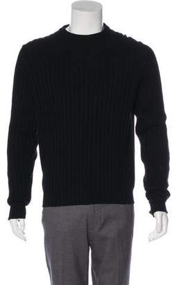 Burberry Smoke Check-Accented Merino Wool Sweater