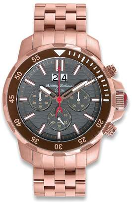 Tommy Bahama Men's TB3066 Chronograph Island Diver Stainless Rose Gold Bracelet Band Dial Watch