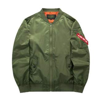 Friendshiy Ma1 Thick and Thin Army Green Military Motorcycle Ma-1 Aviator Pilot Air Men Bomber Jacket
