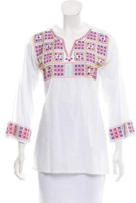 Roberta Freymann Embellished Sequined Tunic