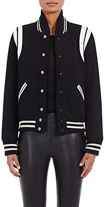 Saint Laurent Women's Varsity Jacket - Naturale