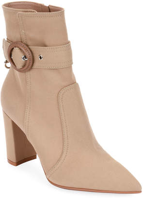 Gianvito Rossi Waterproof Fabric 85mm Booties