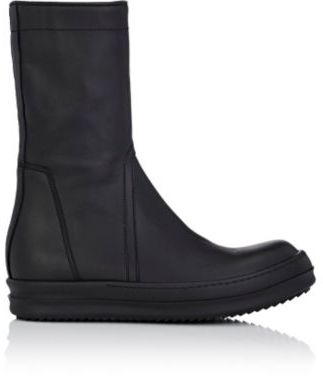 Rick Owens Women's Creeper Leather High-Top Sneakers-BLACK $1,455 thestylecure.com