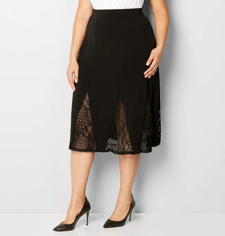 Avenue Midi Godet Skirt with Lace