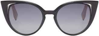 Fendi Black Cat-Eye Sunglasses $465 thestylecure.com