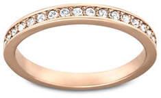 Swarovski Rose-goldtone Crystal Rare Ring
