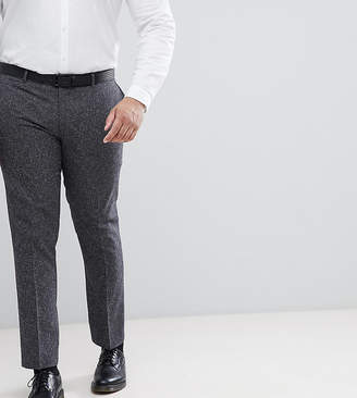 Farah Smart PLUS Skinny Suit Pants In Fleck