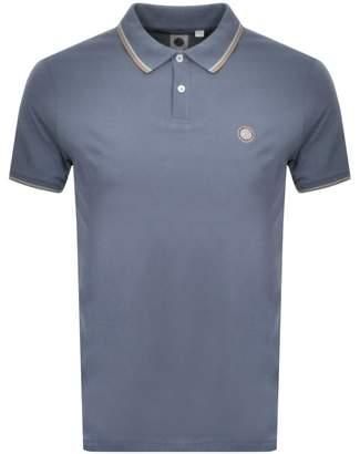 Pretty Green Barton Tipped Polo T Shirt Blue
