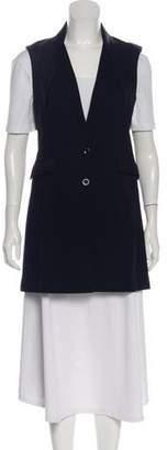 Saks Fifth Avenue Button-Up Longline Vest w/ Tags