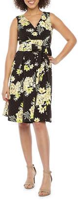 Rabbit Rabbit Rabbit DESIGN Design Sleeveless Floral Dot Fit & Flare Dress