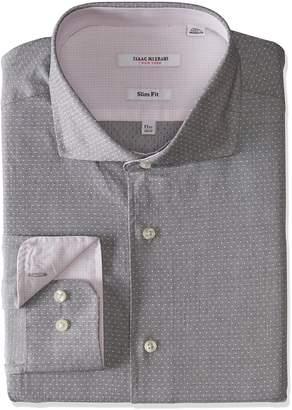 Isaac Mizrahi Men's Slim Fit Fancy Cut Away Collar Dress Shirt
