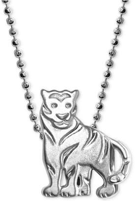"Alex Woo Mini Tiger 16"" Pendant Necklace in Sterling Silver"