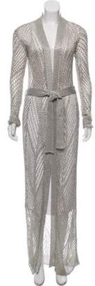 Balmain Long Sheer Knit Metallic Long Sheer Knit