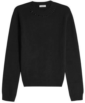 Valentino Embellished Cashmere Pullover