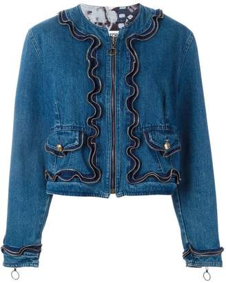 Moschino PRE-OWNED zipped denim jacket