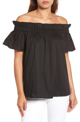 Women's Pleione Ruffle Off The Shoulder Top $49 thestylecure.com