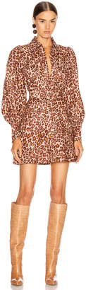 Zimmermann Resistance Safari Shirt Dress in Cameo Leopard | FWRD