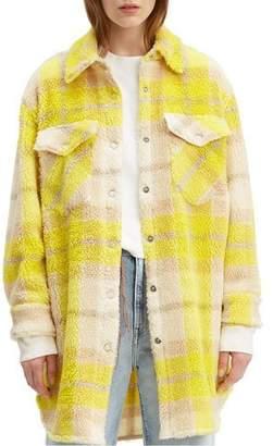 Levi's Plaid Sherpa Western Jacket