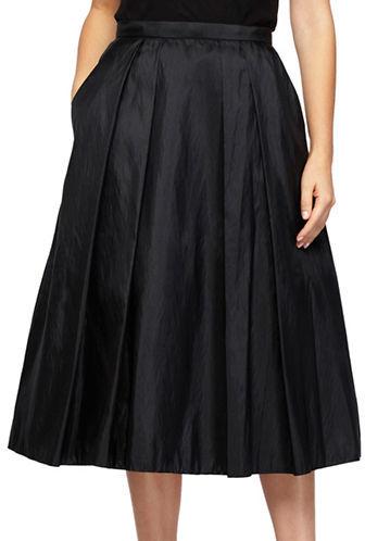Alex EveningsAlex Evenings Plus Solid Pleated Skirt
