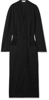 Totême Mantova Belted Merino Wool Cardigan - Black