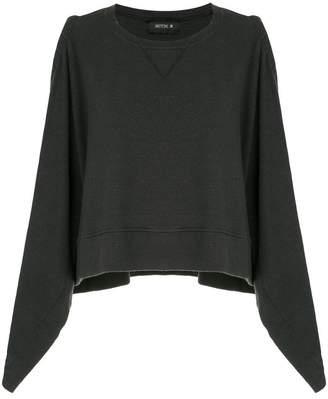 Kitx open shoulder draped sweatshirt poncho