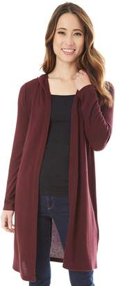 Iz Byer Juniors' Hooded Duster Cardigan