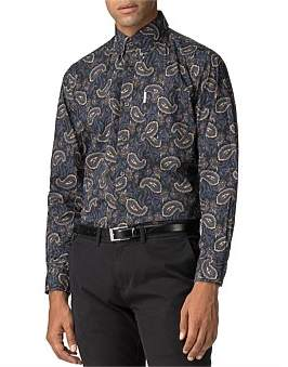 Ben Sherman Ls Archive Vega Shirt Black