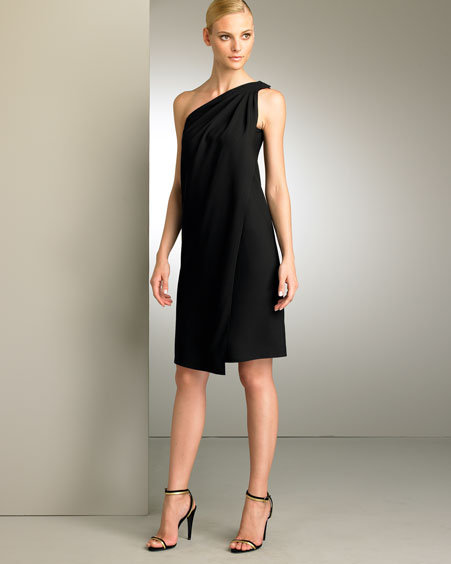 Ralph Lauren Collection Satin One-Shoulder Dress