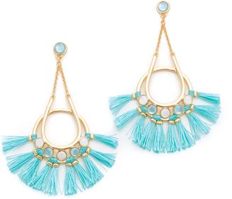 Rebecca Minkoff Utopia Tassel Chandelier Earrings $98 thestylecure.com