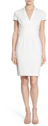 Women's Catherine Catherine Malandrino 'Dale' V-Neck Sheath Dress $128 thestylecure.com