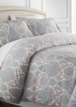 SOUTHSHORE FINE LINENS King/California King Sized Luxury Premium Oversized Comforter Sets - Boho Paisley Aqua