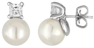 Women's Majorica Pearl & Crystal Earrings $115 thestylecure.com