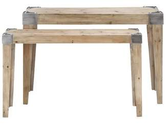Cole & Grey 2 Piece Console Table Set