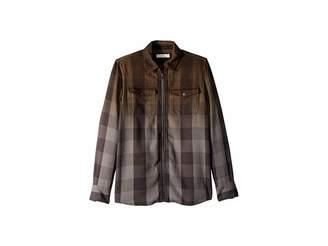 Stella McCartney Melvil Plaid Ombre Button Up Shirt (Toddler/Little Kids/Big Kids)