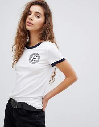 Lee Jeans Logo Ringer T-Shirt