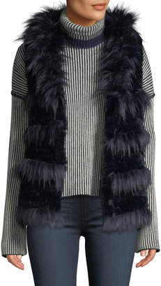 Love Token Shaggy Faux-Fur Vest