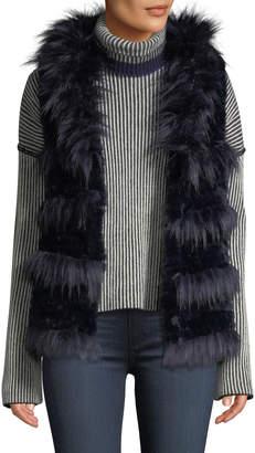 Love Token Shaggy Faux-Fur Vest