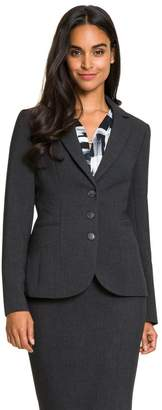Le Château Women's Tailored Notch Collar Blazer,L
