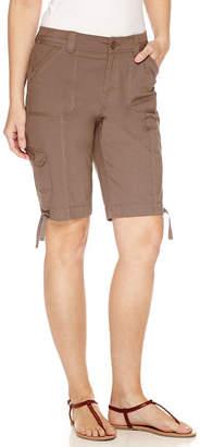 ST. JOHN'S BAY Cargo Woven 11 Bermuda Shorts