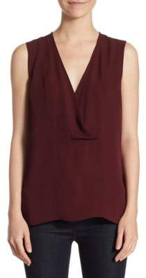 Theory Crossover Shell Silk Top