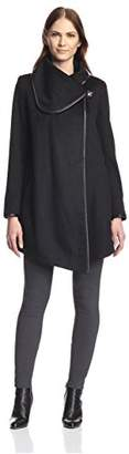 Betsey Johnson Women's Drape Coat $209 thestylecure.com