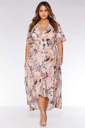 c7342e3db3d4 Quiz Curve Nude and Pink Abstract Print Dress
