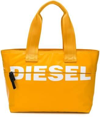 Diesel printed logo shopper tote