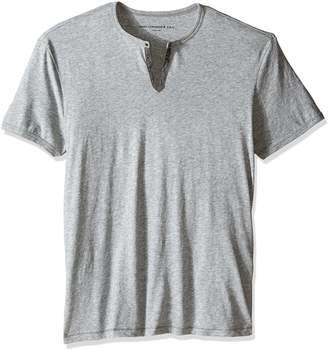John Varvatos Men's Eyelet Henley Shirt